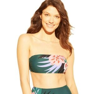 NWT Kona Sol Bandeau Bikini Top Medium Green